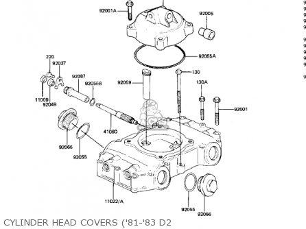 Kawasaki 1982 Kz440-d4 Ltd Belt parts list partsmanual