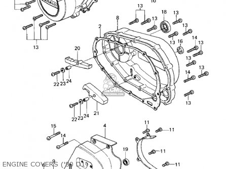 Kawasaki 1982 Kz440-d4 Ltd Belt parts list partsmanual