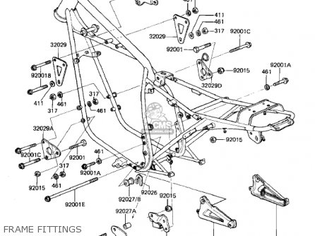 Kawasaki 1982 Kz440-g1 parts list partsmanual partsfiche