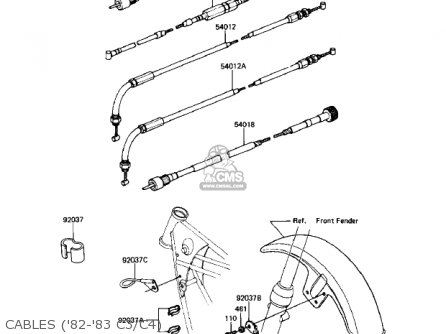 Kawasaki 1982 Kz550-c3 Ltd parts list partsmanual partsfiche