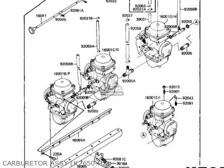 Kawasaki 1982 Kz650-h2 Csr parts list partsmanual partsfiche