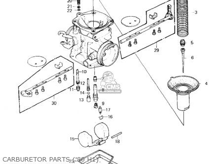 Kawasaki 1982 Kz750-h3 Ltd parts list partsmanual partsfiche