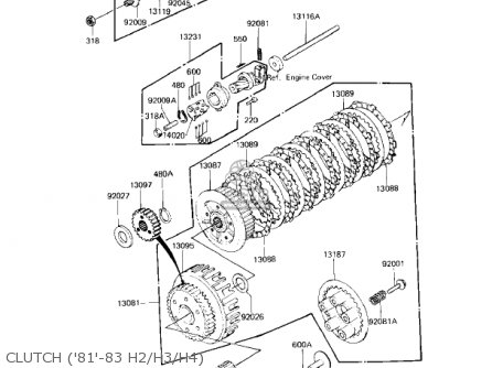 Kawasaki 1982 Kz750-h3 Ltd parts list partsmanual partsfiche