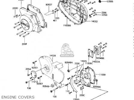 Kawasaki 1982 Kz750-m1 Csr Twin parts list partsmanual