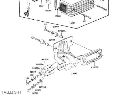 Kawasaki 1982 Kz750-n1 Spectre parts list partsmanual