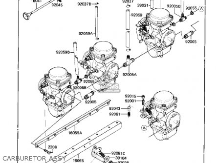 Kawasaki 1982 Kz750-r1 Gpz parts list partsmanual partsfiche