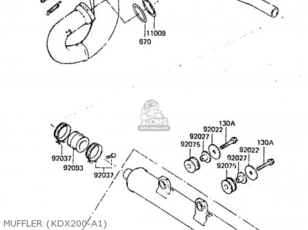 Kawasaki 1983 A1: Kdx200 parts list partsmanual partsfiche