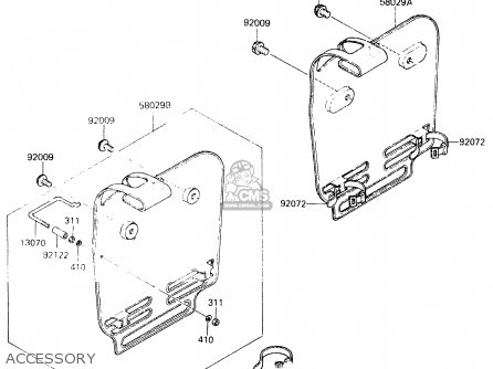 Kawasaki 1983 A1: Kx60 parts list partsmanual partsfiche