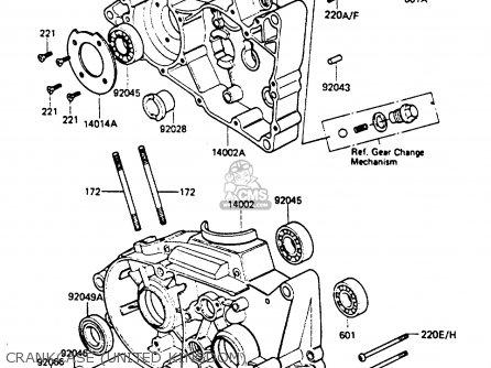 Kawasaki 1983 B2: Ke100 parts list partsmanual partsfiche