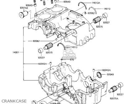 Kawasaki 1983 Ex305-b1 Gpz 305 parts list partsmanual