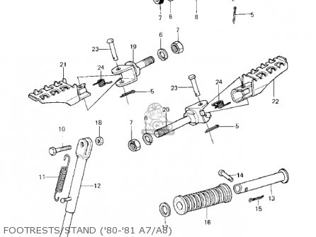 Kawasaki 1983 Ke125-a10 Ke125 parts list partsmanual