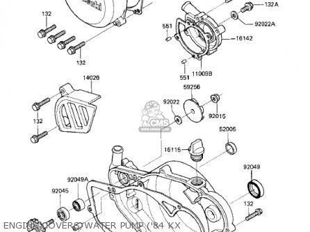 Kawasaki 1983 Kx250-c1 Kx250 parts list partsmanual partsfiche