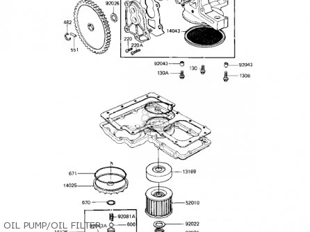 Kawasaki 1983 Kz1100-a3 Shaft parts list partsmanual