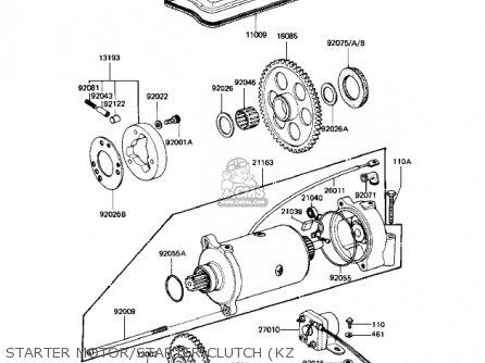 Kawasaki 1983 Kz1100-a3 Shaft parts list partsmanual