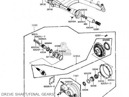 Kawasaki 1983 Kz1100 D2 Spectre Gear Change Mechanism