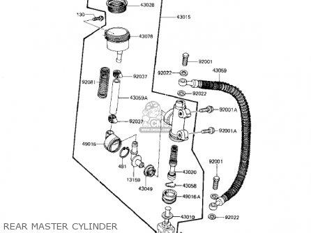 Kawasaki 1983 Kz1100-l1 Ltd Shaft parts list partsmanual