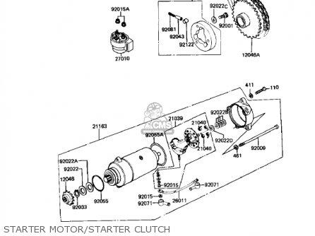 Kawasaki 1983 Kz250-w1 Ltd Belt parts list partsmanual