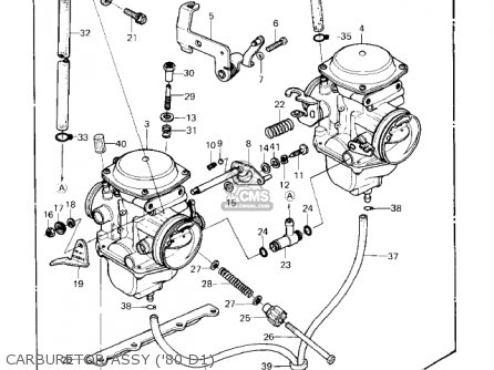 Kawasaki 1983 Kz440-d5 Ltd Belt parts list partsmanual