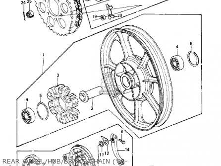 Kawasaki 1983 Kz550-c4 Ltd parts list partsmanual partsfiche