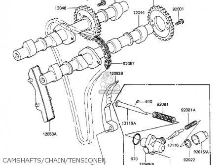 Kawasaki 1983 Kz550-f1 Spectre parts list partsmanual