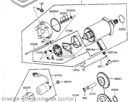 Kawasaki 1983 Kz550-f1 Spectre parts list partsmanual