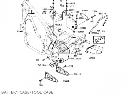 Kawasaki 1983 Kz550-h2 Gpz parts list partsmanual partsfiche