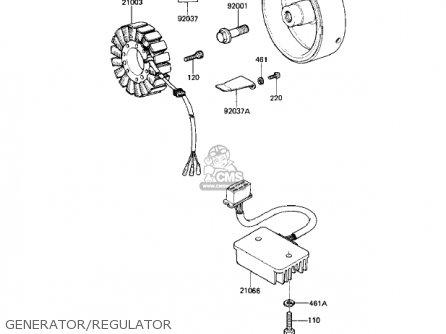 Kawasaki 1983 Kz550-m1 Ltd Shaft parts list partsmanual