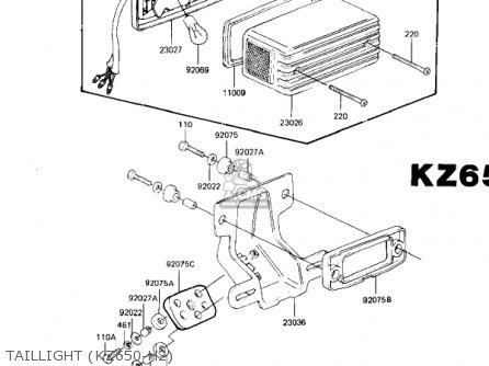 Kawasaki 1983 Kz650-h3 Csr parts list partsmanual partsfiche