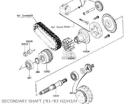 Kawasaki 1983 Kz750-h4 Ltd parts list partsmanual partsfiche