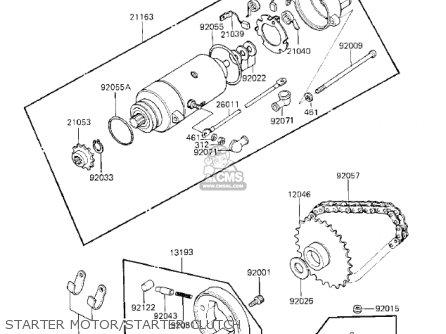 Kawasaki 1983 Kz750-k1 Ltd Belt parts list partsmanual