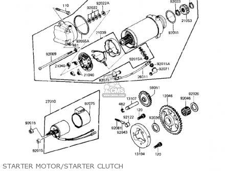 Kawasaki 1983 Kz750-l3 parts list partsmanual partsfiche