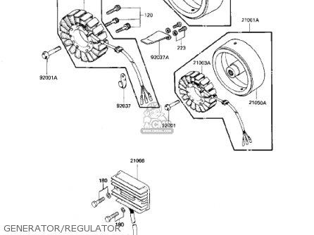 Kawasaki 1983 Kz750-n2 Spectre parts list partsmanual