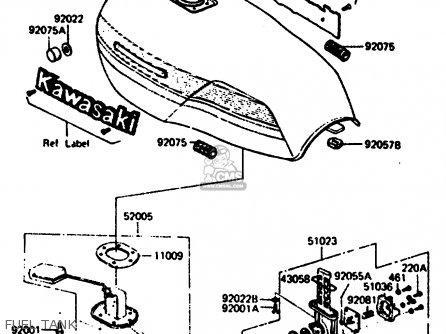 Kawasaki 1983 R2: Z1000 parts list partsmanual partsfiche