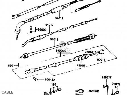 Kawasaki 1984 A11: Ke125 parts list partsmanual partsfiche