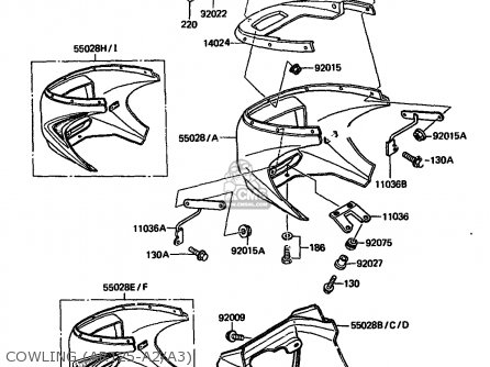 Kawasaki 1984 A2: Ar125 parts list partsmanual partsfiche