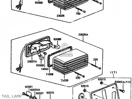 Kawasaki 1984 A2: Zx1100 parts list partsmanual partsfiche