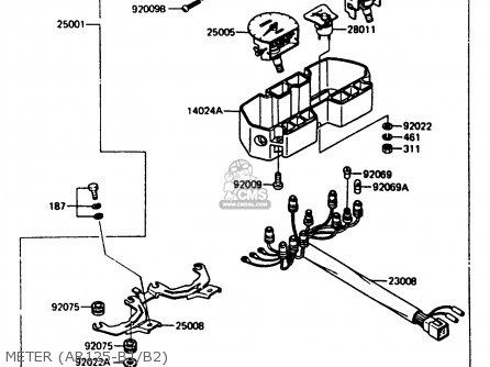 Kawasaki 1984 B1: Ar125 parts list partsmanual partsfiche