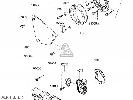 Kawasaki 1984 C1: Kx125 parts list partsmanual partsfiche