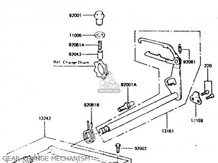 Kawasaki 1984 D6: Z440 parts list partsmanual partsfiche