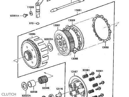 Kawasaki 1984 Kdx250-b4 Kdx250 parts list partsmanual