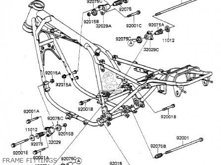 Kawasaki 1984 Kz550-f2 Ltd Shaft parts list partsmanual