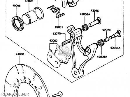 Kawasaki 1984 P3: Z750 parts list partsmanual partsfiche