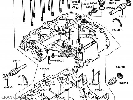Kawasaki 1984 R1: Z1100 parts list partsmanual partsfiche
