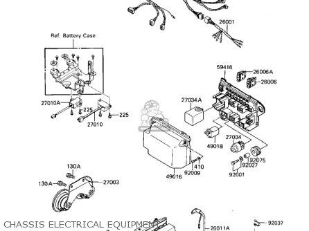 Kawasaki 1984 Zn1100-b1 Ltd Shaft parts list partsmanual