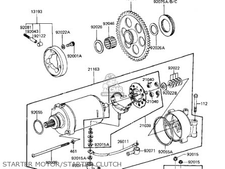 Kawasaki 1984 Zn1100-b1 Ltd Shaft parts list partsmanual