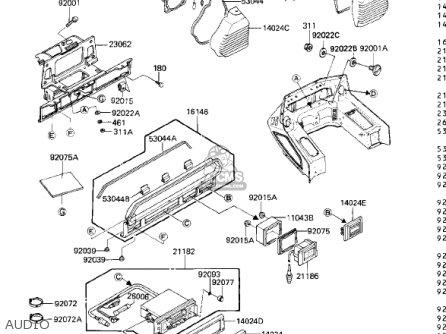 Kawasaki 1984 Zn1300-a2 Voyager parts list partsmanual