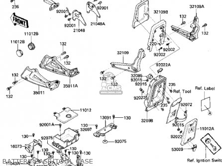 Kawasaki 1984 Zn700-a1 Ltd Shaft parts list partsmanual