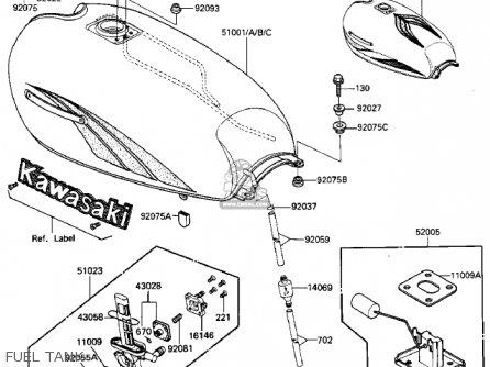 Kawasaki 1984 Zn700-a1 Ltd Shaft parts list partsmanual