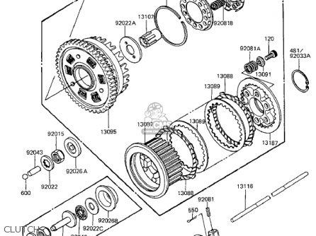 Kawasaki 1984 Zx1100-a2 Gpz parts list partsmanual partsfiche