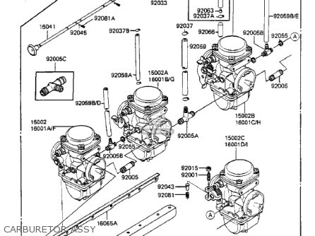 Kawasaki 1984 Zx750-a2 Gpz 750 parts list partsmanual